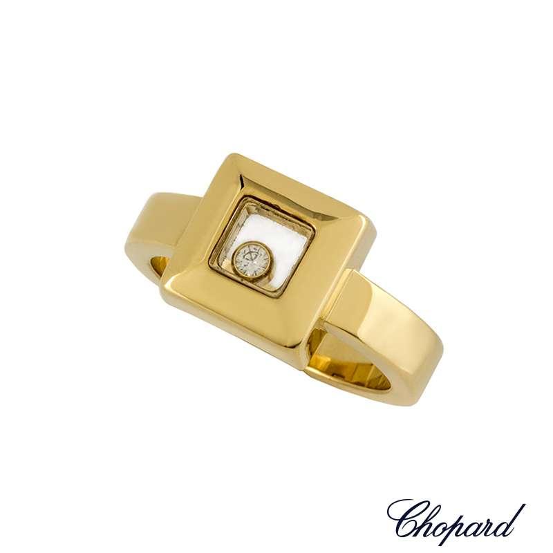 Chopard Yellow Gold Happy Diamonds Ring